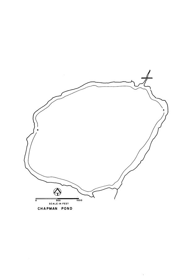 Chapman Pond Lake Map