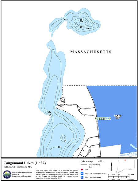 Congamond Lakes Map