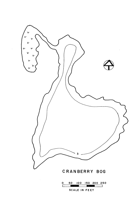 Cranberry Bog Pond Lake Map