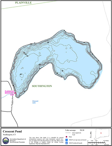 Crescent Pond Map