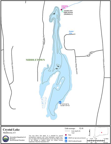 Crystal Lake Middletown Map