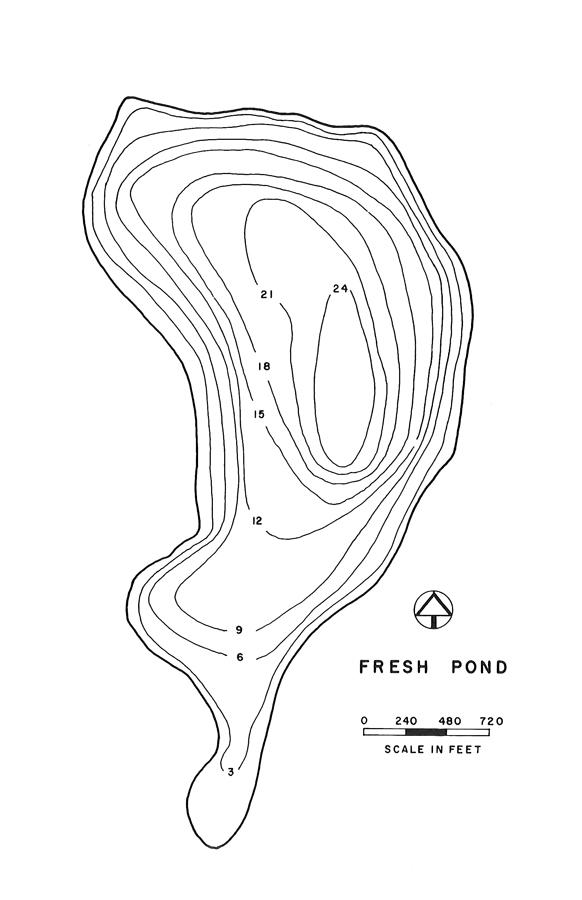 Fresh Pond Lake Map