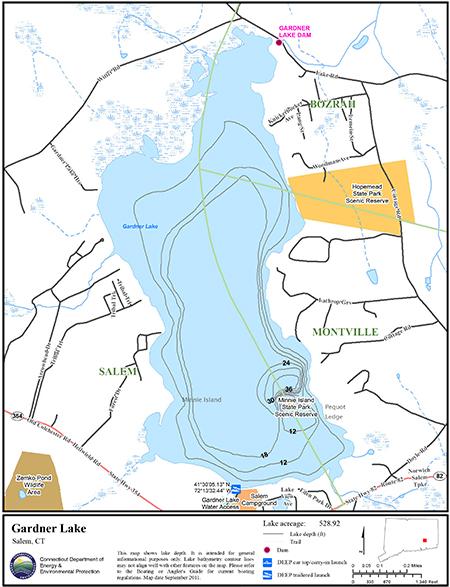 Gardner Lake Map