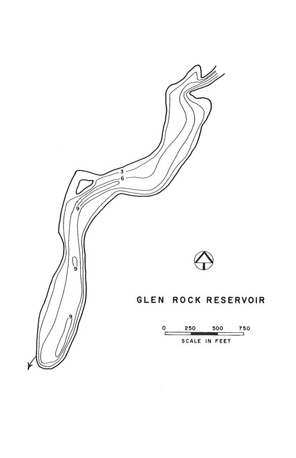 Glen Rock Reservoir Map