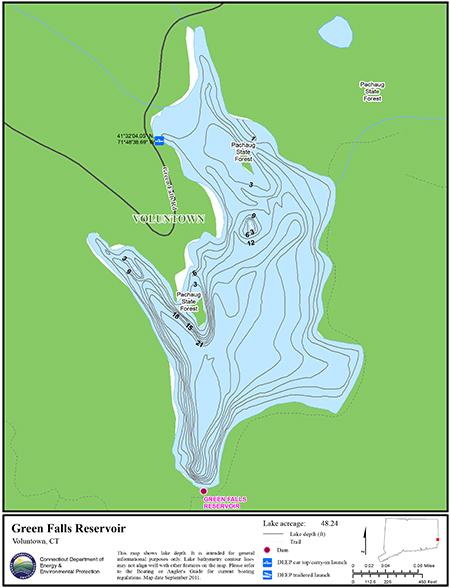 Green Falls Reservoir Map