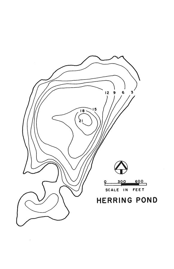 Herring Pond Lake Map