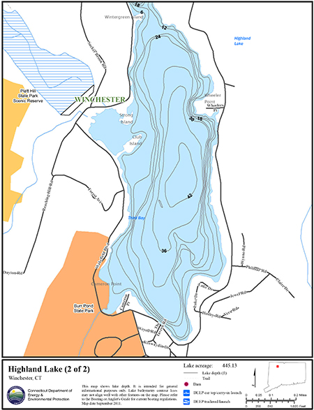 Highland Lake Map