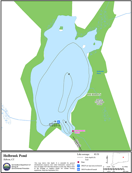 Holbrook Pond Map