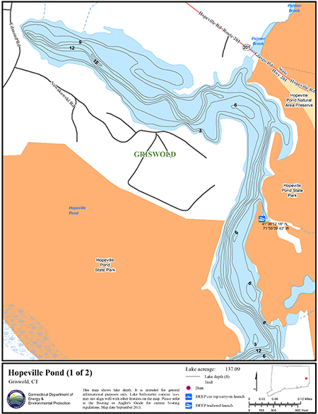 Hopeville Pond Map