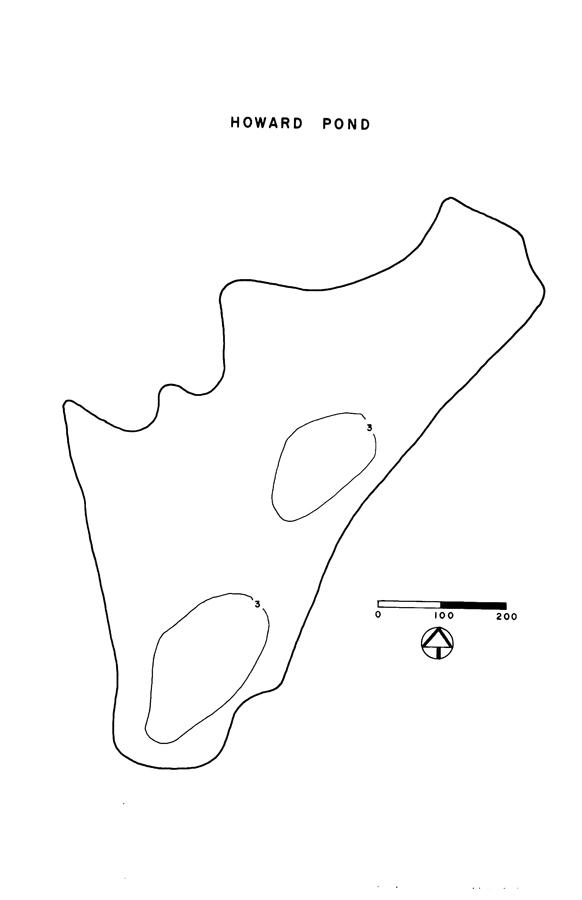 Howard Pond Lake Map