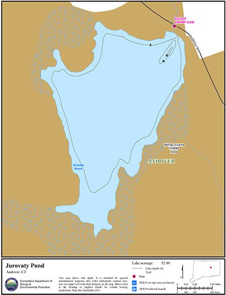 Jurovaty Pond Map