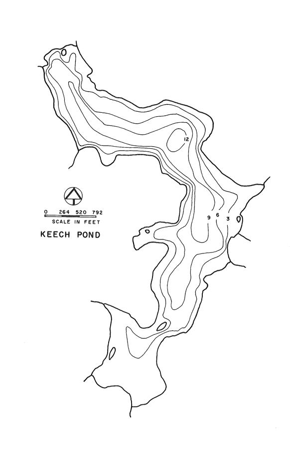 Keech Pond Lake Map