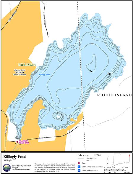 Killingly Pond Map