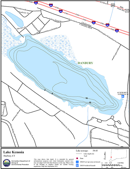Lake Kenosia Map