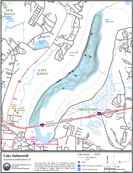 Lake Saltonstall Map