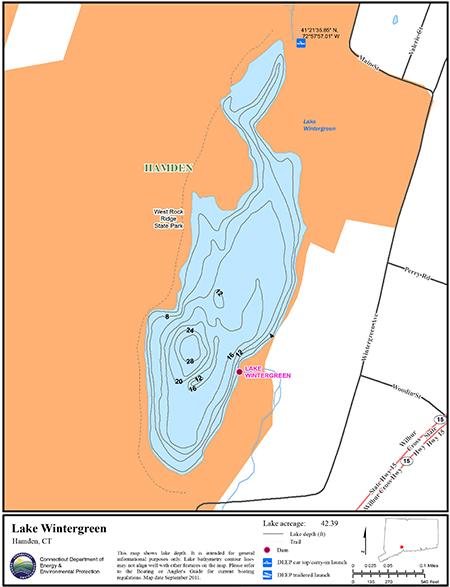 Lake Wintergreen Map