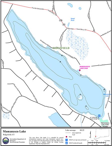 Mamanasco Lake Map