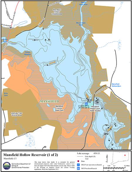 Mansfield Hollow Reservoir Map