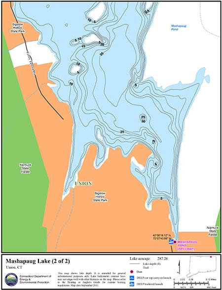 Mashapaug Lake Map