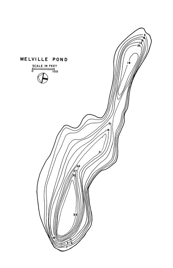Melville Pond Lake Map