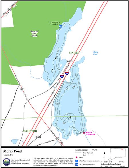 Morey Pond Map