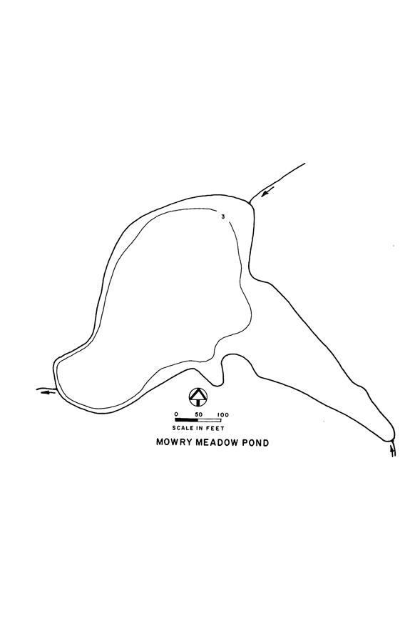 Mowry Meadow Pond Lake Map