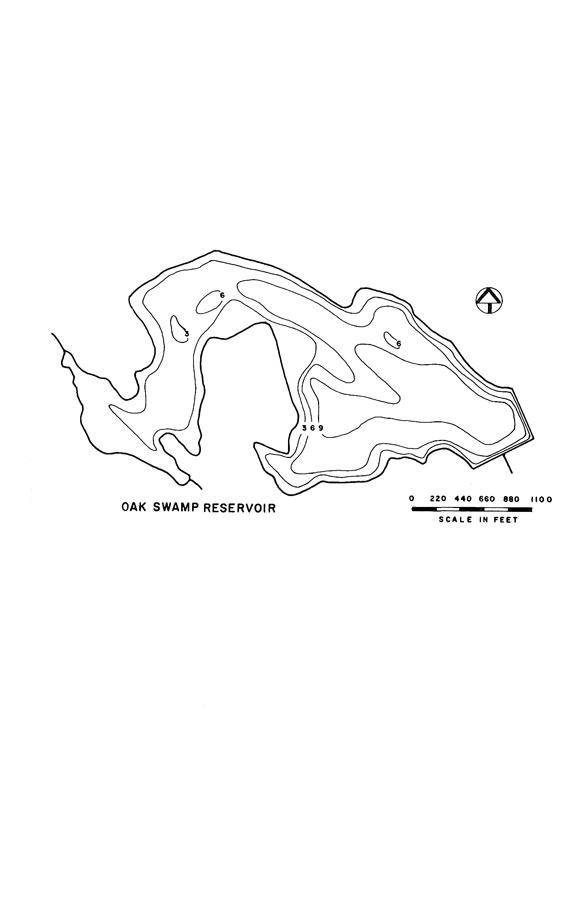 Oak Swamp Reservoir Map
