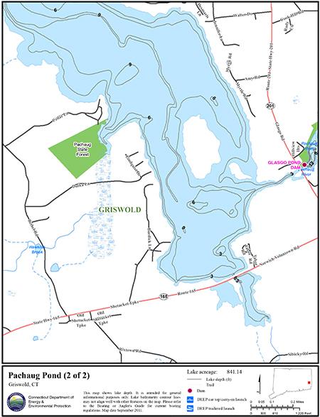 Pachaug Pond Map