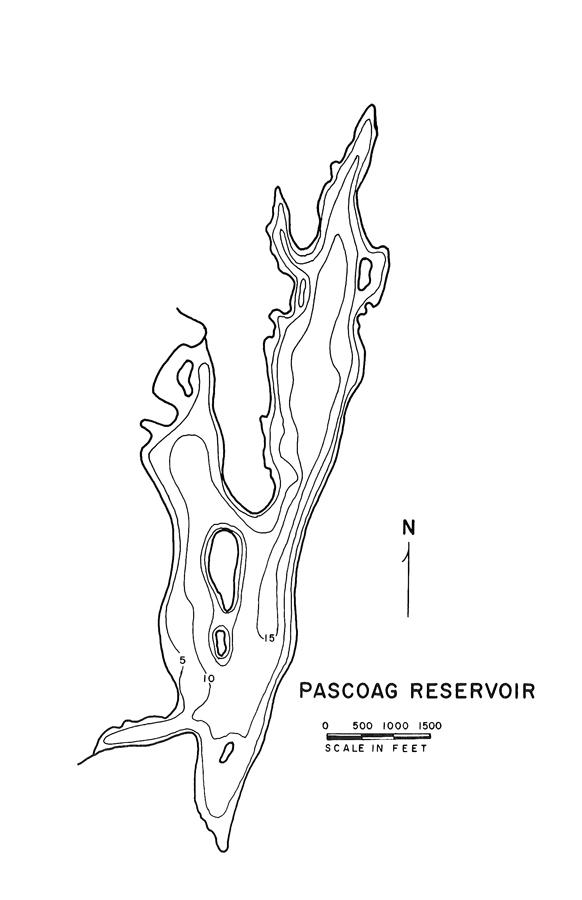 Pascoag Reservoir Map