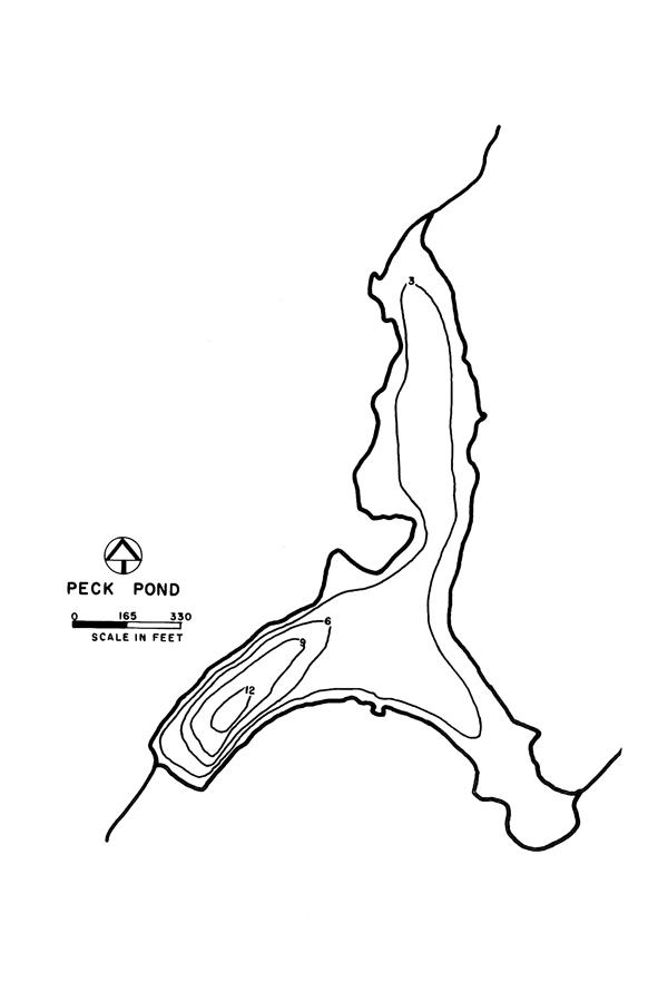 Peck Pond Lake Map