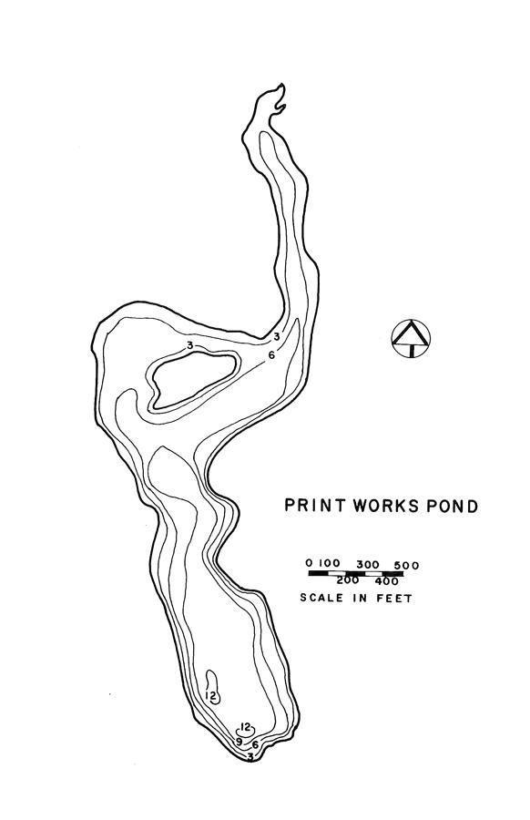 Print Works Pond Lake Map