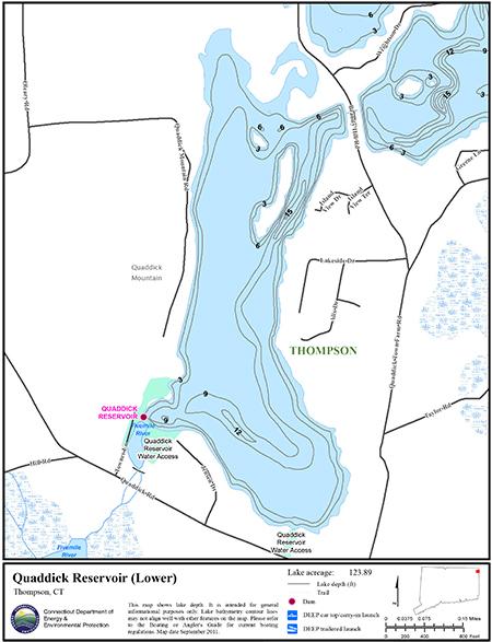 Quaddick Reservoir Lower Map