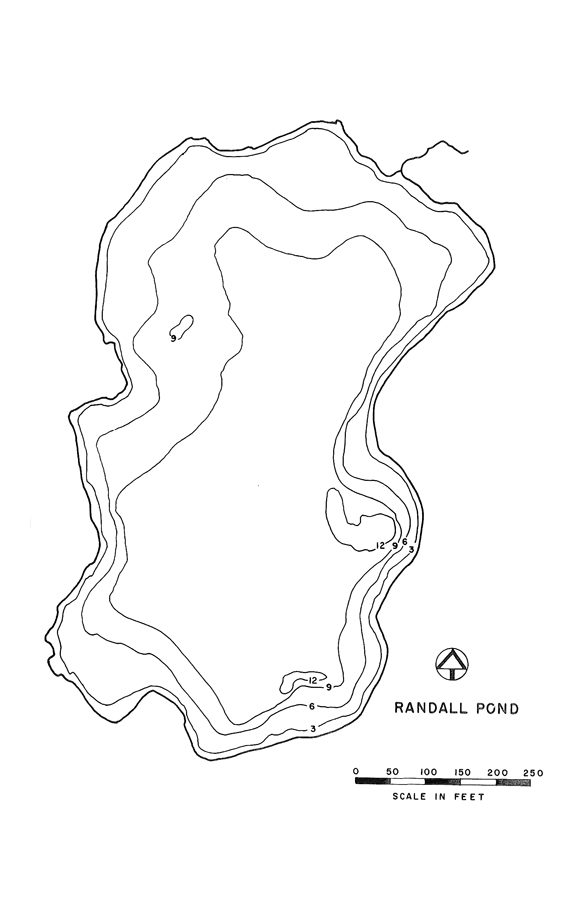 Randall Pond Lake Map