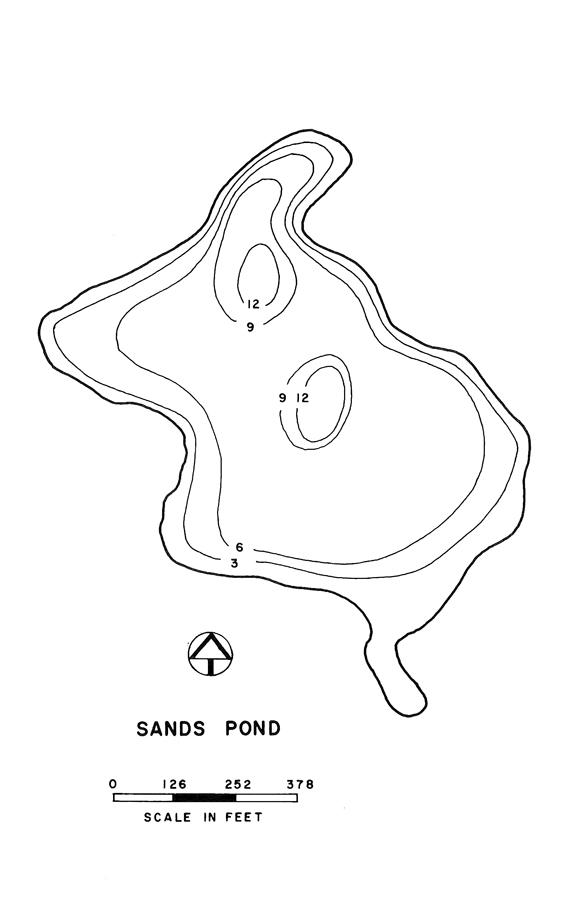 Sands Pond Lake Map