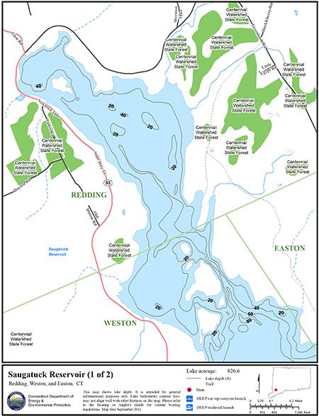 Saugatuck Reservoir Map