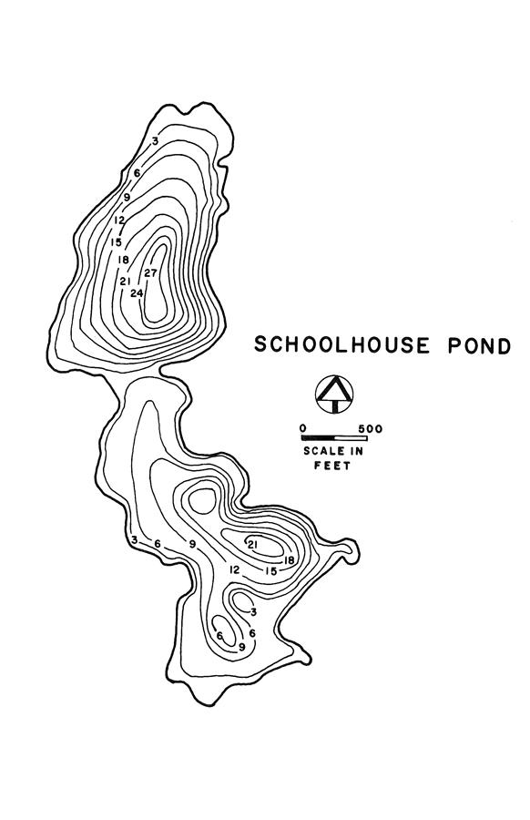School House Pond Lake Map