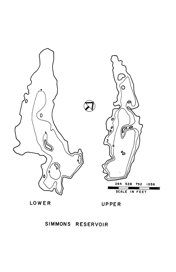 Simmons Upper Reservoir Map