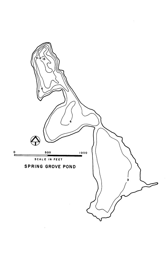 Spring Grove Pond Lake Map