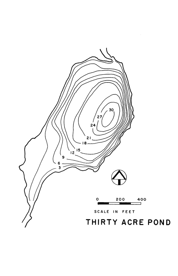 Thirty Acre Pond Lake Map