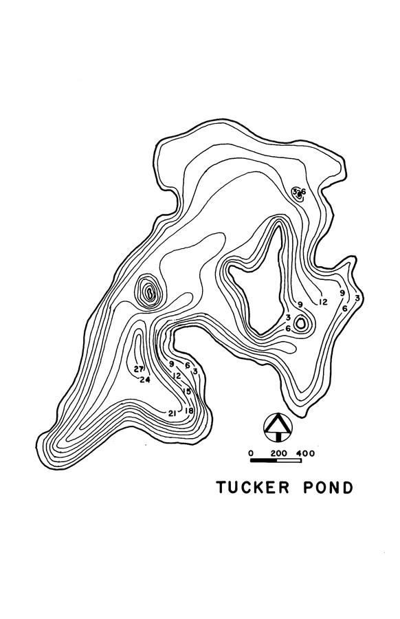 Tucker Pond Lake Map