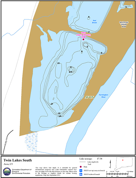 Twin Lakes South Map