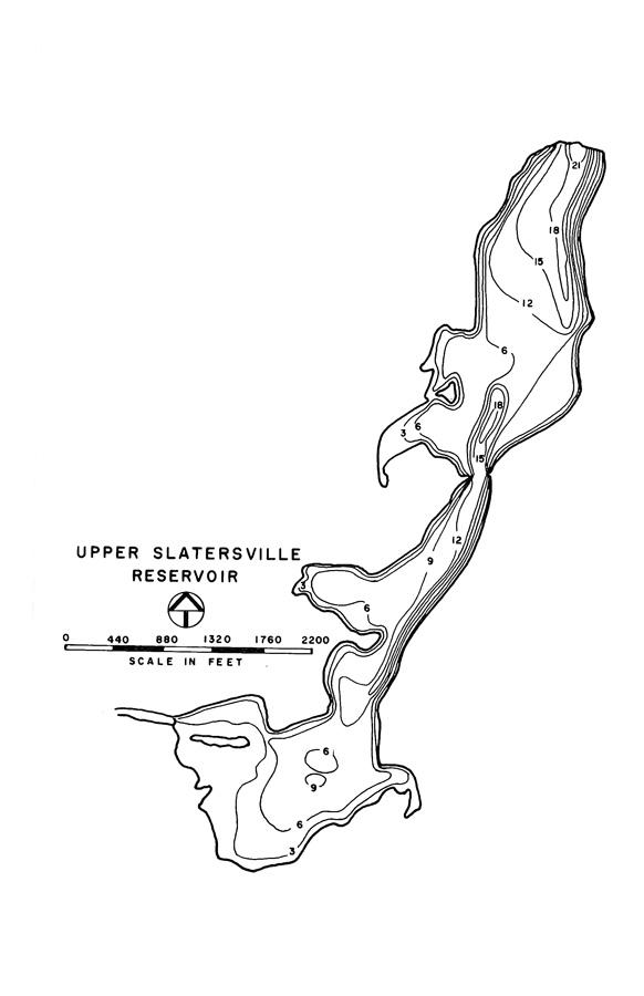Upper Slatersville Reservoir Map