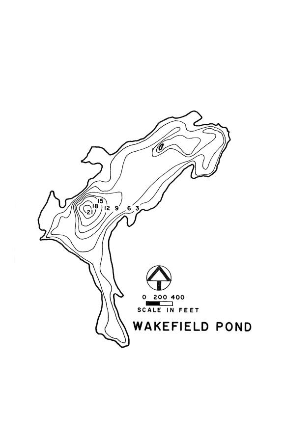 Wakefield Pond Lake Map