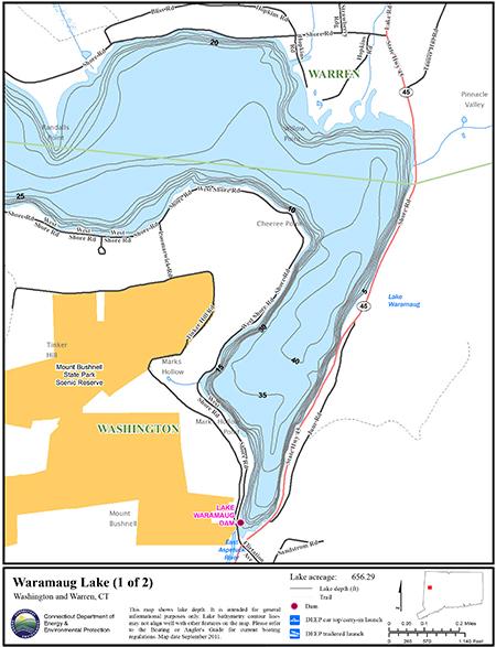 Waramaug Lake Map