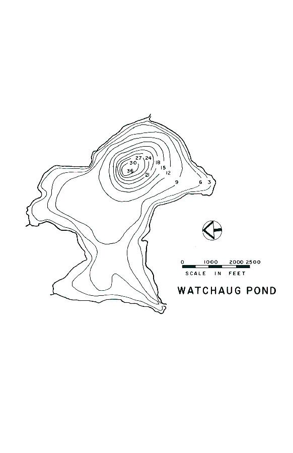Watchaug Pond Lake Map