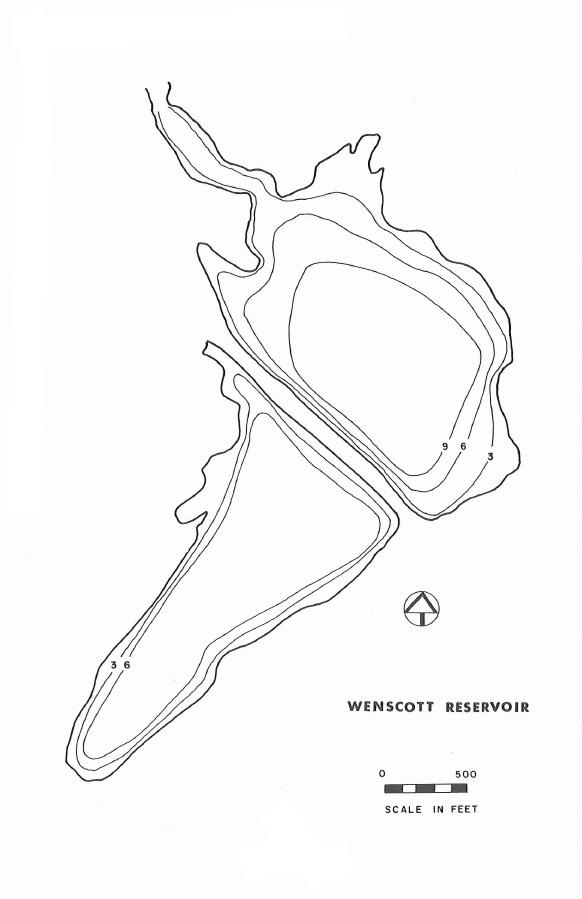 Wenscott Reservoir Map
