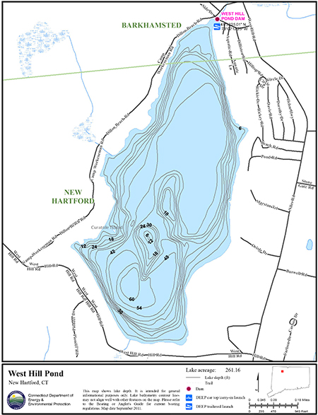 West Hill Pond Map