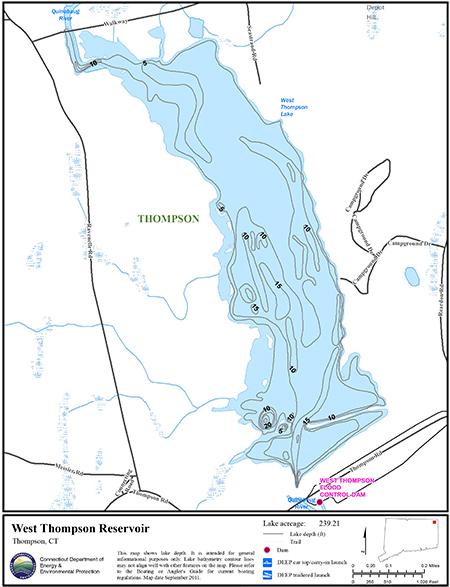 West Thompson Reservoir Map