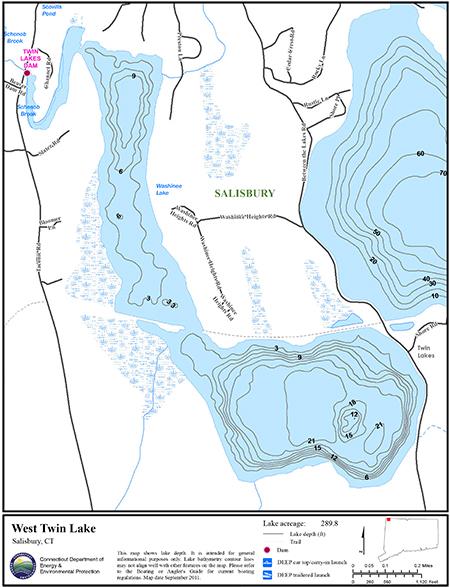 West Twin Lake Map