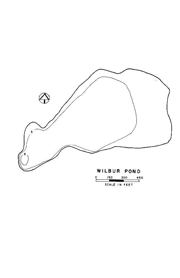 Wilbur Pond Lake Map